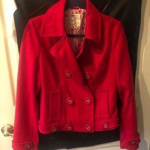 Red pea coat/jacket